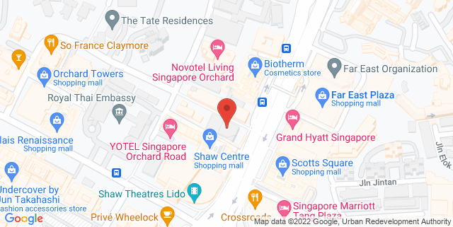 Map showing Pacific Plaza