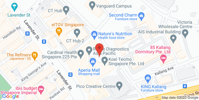 Map showing Aperia Mall