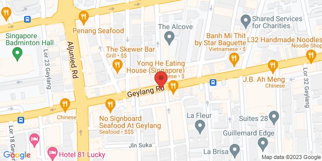Map showing Tanjong Katong Complex