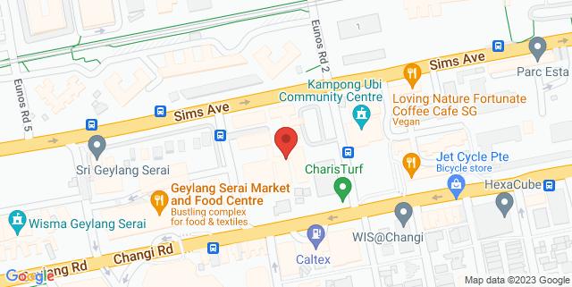 Map showing Kembangan-Chai Chee Community Hub