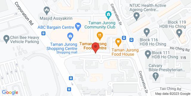 Map showing Taman Jurong Shopping Centre