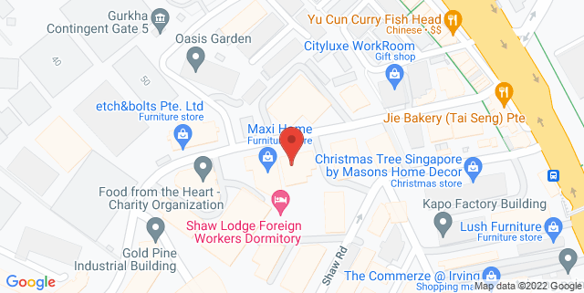 Map showing Shooting Gallery Asia