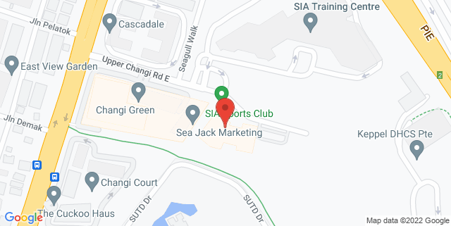 Map showing SIA Sports Club