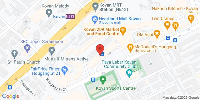 Map showing Kovan Hub