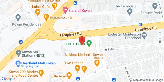Map showing Jforte Sportainment Centre