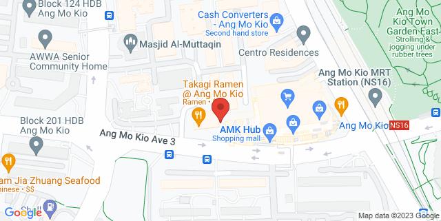 Map showing AMK Hub