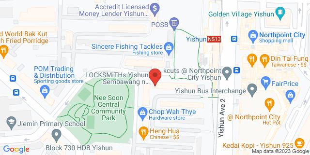 Map showing Yishun Nee Soon Central CC