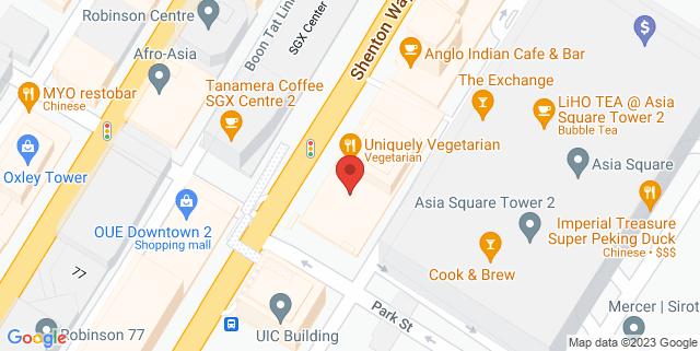 Map showing Shenton House