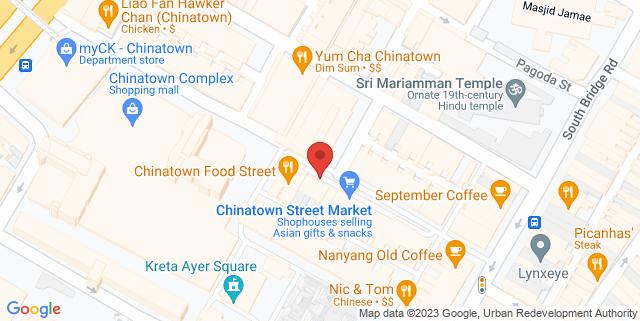 Map showing Mooks Thai Bistro