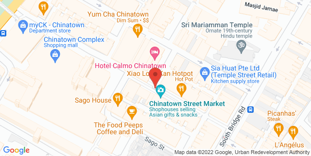 Map showing Chinatown Business Association