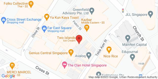 Map showing O-Ku Japanese Tapas Bar