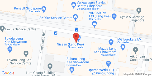 Map showing Subaru Service Centre