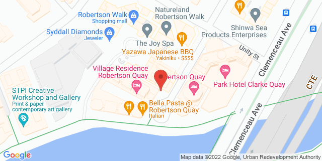 Map showing Singapore Repertory Theatre