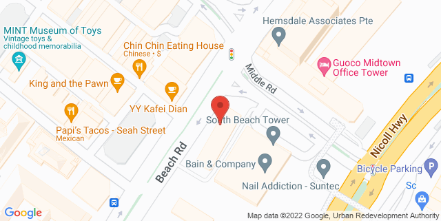 Map showing South Beach Tower