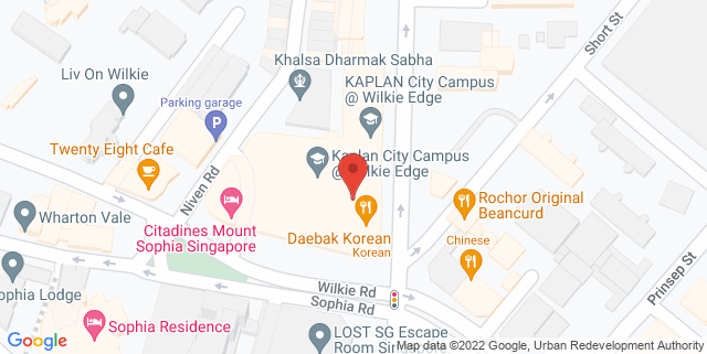 Map showing Chocolate Mark Cafe
