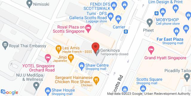 Map showing Cuturi Gallery