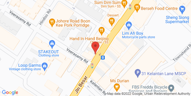 Map showing Flaneur Gallery