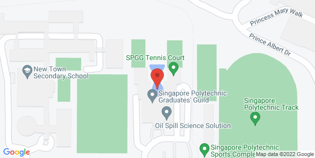 Map showing Singapore Polytechnic Graduates' Guild