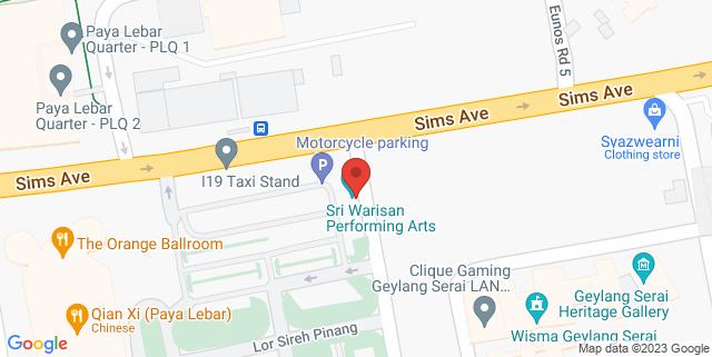 Map showing Wisma Geylang Serai