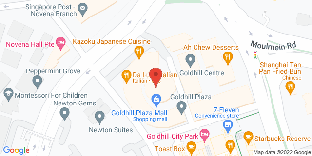 Map showing Goldhill Plaza