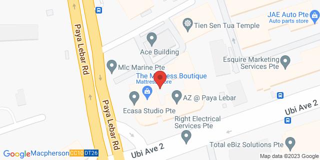 Map showing Exabytes Network (Singapore) Pte Ltd