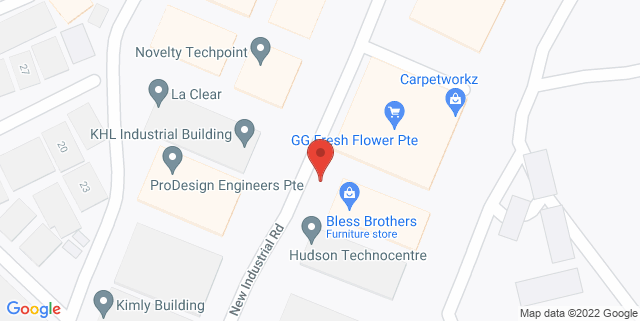 Map showing Work+Store Space