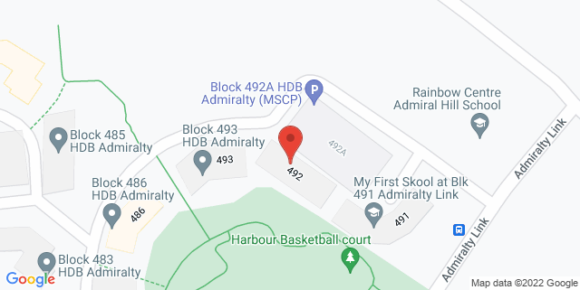 Map showing Blk 492