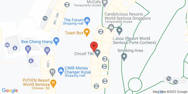 Map showing Universal Studios Singapore
