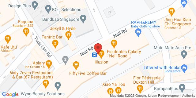 Map showing Epiphyte Cafe