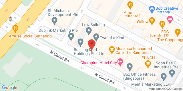Map showing D'Bell Resto and Lounge