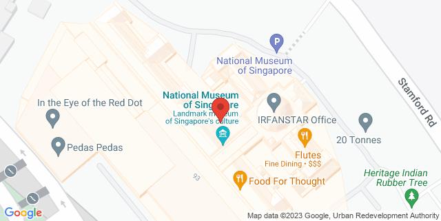 Map showing Flutes Restaurant Bar