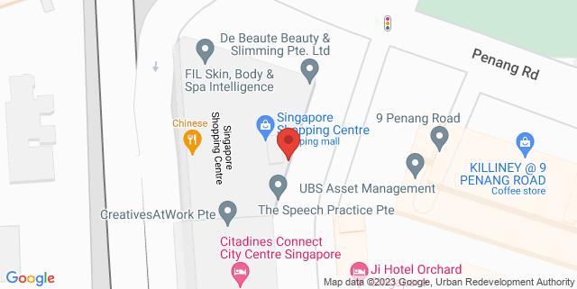 Map showing Captivate Ecape Rooms
