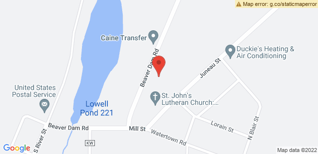 Map of 210 Beaver Dam Rd., Lowell, WI 53557