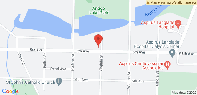 Map of 604 Virginia Street Antigo, WI 54409