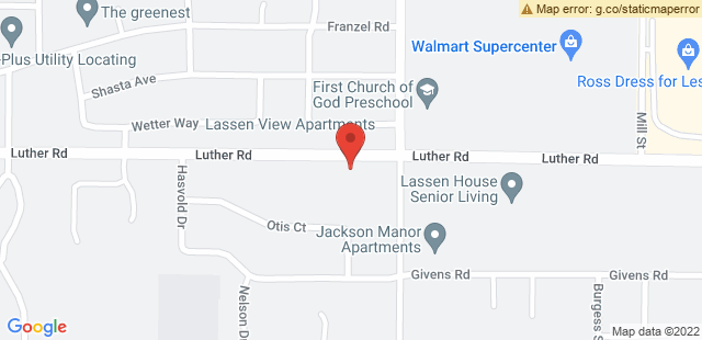 Map of 855+Luther+Road+Red+Bluff%2C+CA+96080