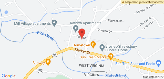 Map of RR1/Race Street, Peterstown, WV 24963