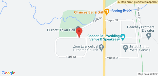 Map of W6235 W Main St, Burnett, WI 53922