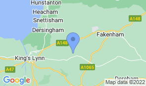 Map of West Heath Barn in Great Massingham