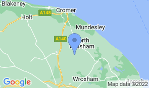 Map of Walnut Tree Barn in Swanton Abbott