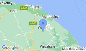 Map of Hoste Barn in Swanton Abbott
