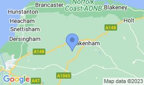 Map of Teapot Cottage in Fakenham