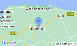 Map of Erika's B&B in Fakenham