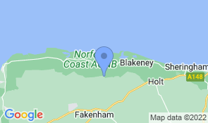 Map of Chalk Farm House B&B in Wells-next-the-Sea