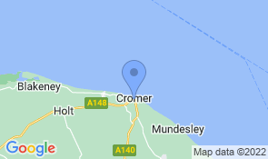 Map of Pantiles in Cromer