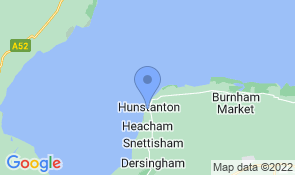 Map of The Beach Hut in Hunstanton