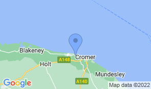 Map of Homefield Guest House in Cromer