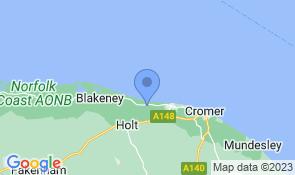 Map of Satara Cottage in Weybourne