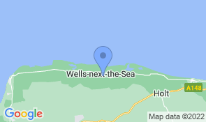 Map of Armeria B&B in Wells-next-the-Sea