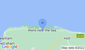 Map of Old Barnyard Cottage in Wells-next-the-Sea