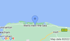 Map of April Cottage in Wells-next-the-Sea